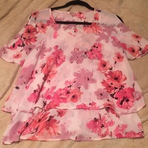 Juicy Couture Pink Floral Blouse